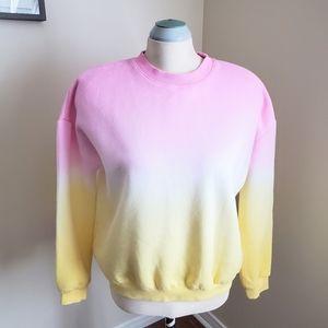 C'est Toi Pink & Yellow Sweatshirt Size M